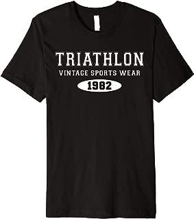 Retro Vintage Triathlon & Triathlete Clothing - Triathlon Premium T-Shirt