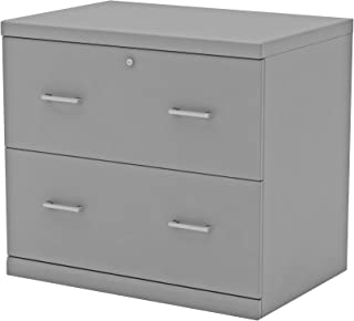 Z-Line Designs 2-Drawer Grey Lateral File Cabinet,