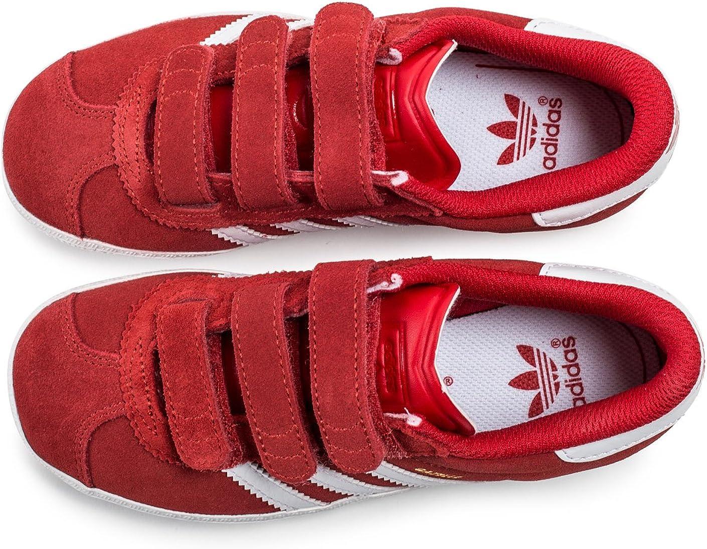 adidas Chaussures Gazelle 2 CF Rouge Garçon : Amazon.fr ...