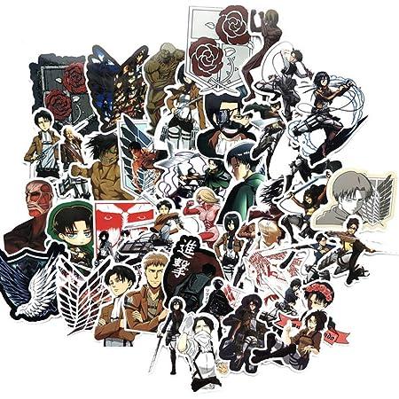 Attack On Titan Aufkleber 100 Stück Aot Aufkleber Coole Anime Aufkleber Vinyl Wasserdichte Aufkleber Für Teenager Erwachsene Laptop Wasserflaschen Skateboard Gitarre Küche Haushalt