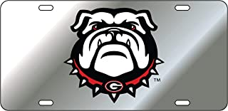 Georgia Bulldogs New Uga Design Laser Cut Inlaid Mirror License Plate