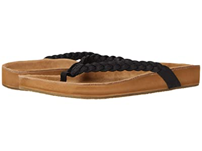 Sanuk She Loungy Braid Leather (Black) Women