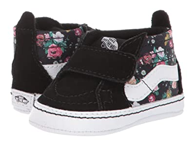 Vans Kids SK8-Hi Crib (Infant/Toddler) ((Butterfly Floral) Black/Black) Girls Shoes