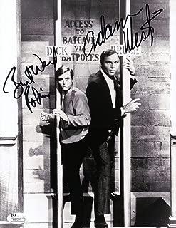 Adam West Burt Ward Dual Signed Autographed 8X10 Photo Batman Bat Poles w/COA