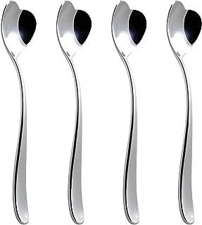 Alessi, Set 4 Biglove Ice Cream Spoons, Set Of 4, Silver