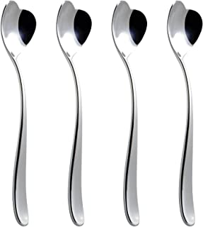 Alessi AMMI01CUS4, Set 4 Biglove Ice Cream Spoons, Set Of 4, Silver