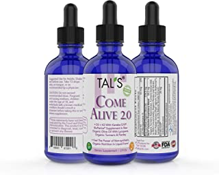TAL'S Come Alive 2.0 Vitamin D3 K2 Kaneka Q10, BioPerine, Lycopene, 95% Curcuminoids, Organic Turmeric and Parsley Supplement | Non-Synthetic Liquid Drops | Powerful Antioxidants | Made in USA