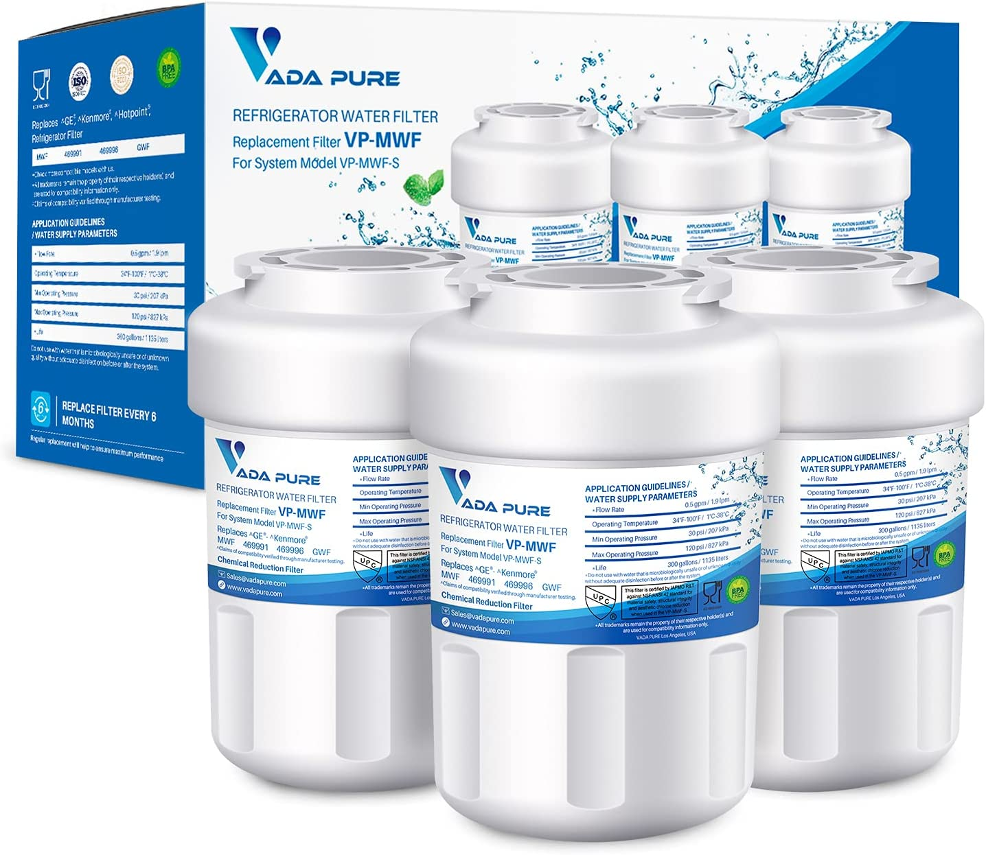 Vada Pure - MWF Water Filter 42 Max 79% OFF Certified safety ANSI Replacement NSF