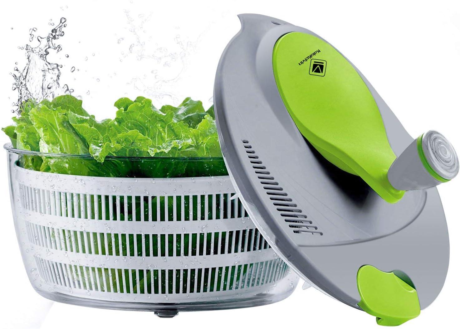 kalokelvin Super intense SALE Salad Spinner 4 Quarts Quick Vegetables Dryer New mail order Fre BPA