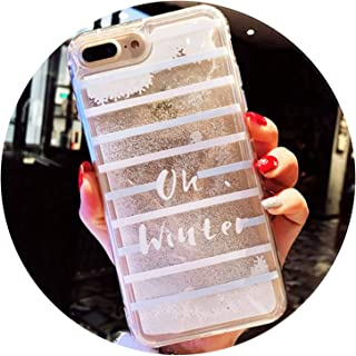 Winter Christmas Tree Snowflake Silicone Phone Cases for iPhone Xs Max XR X 10 8 7 6 6s Plus Quicksand Dynamic Quick Sand Cover,2,for iPhone Xs Max