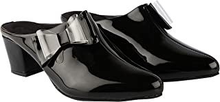 Do Bhai Women Synthtic Material Back Open Mule Block Heel Fashion Sandal (Bantu-425)