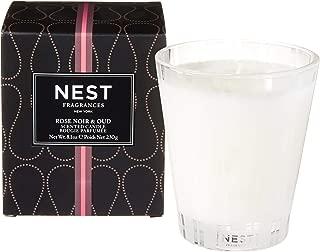 NEST Fragrances Classic Candle Rose Noir & Oud, 8 Ounce