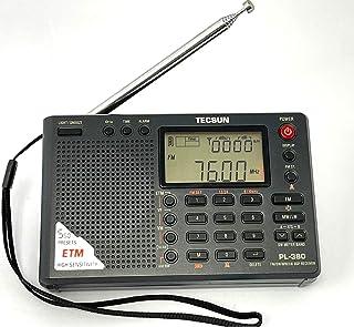 TECSUN 日本正規代理店 PL-380 (黒) 遠距離受信最適 高感度 BCL 短波ラジオ FM/MW/SW/LW 日本語版説明書付属 (他モデル PL-310ET ノイズを拾いやすく中近距離受信向け)