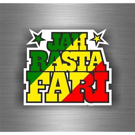 Akachafactory Selbstklebend Sticker Auto Rasta Reggae One Love Löwe Jamaikanische Flagge Ref13 Auto