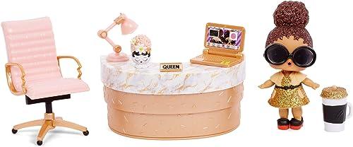 LOL Surprise Poupées collectionnables pour filles - Avec 10 surprises et accessoires - Boss Queen - Mobilier Series 3