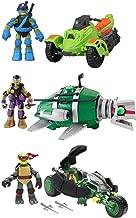 Teenage Mutant Ninja Turtles Vehicle & Figure Set ( 3 Pack ) Turtle Sub with Donatello, Ninja AT3 with Leonardo, & Ninja Stealth Bike with Raphael