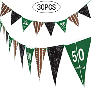 2 Pieces Football Pennant Banner American Football Theme String Flags Banners for Sports Clubs Party Decorations