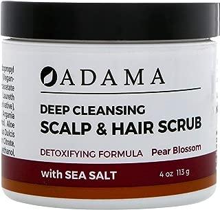 Zion Health Adama Deep Cleansing Scalp Hair Scrub Pear Blossom 4 oz 113 g