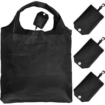 GOKEI エコバッグ コンビニバッグ 【3個入り】 折りたたみ 大容量 買い物バッグ 防水素材 収納 水や汚れにも強い 軽量 コンパクト ブラック