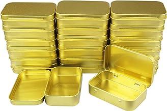 20 sztuk prostokątne metalowe puste puszki na zawiasach pojemniki podstawowe niezbędne domowe przechowywanie organizer min...