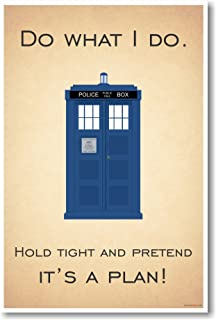 Doctor Who - Tardis - Hold Tight & Pretend It's a Plan - New Quote Poster