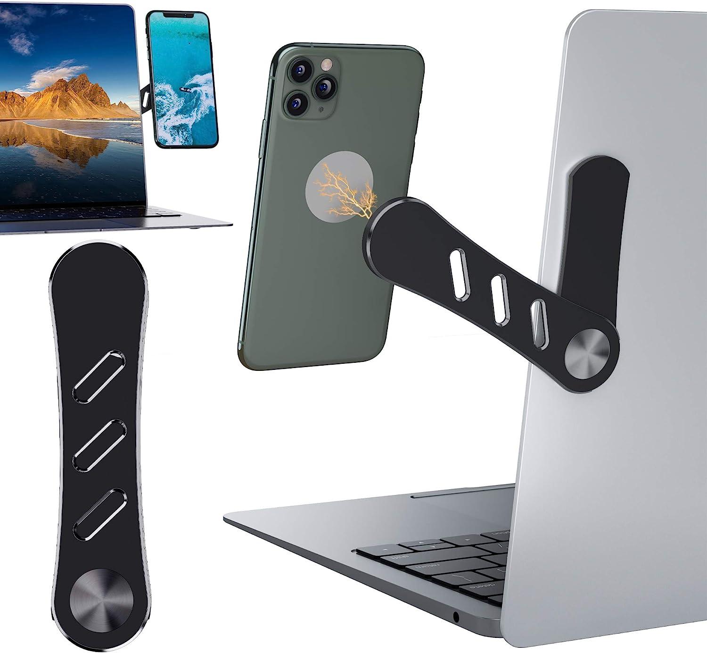 Adjustable Laptop Stand, Laptop Phone Holder, Laptop Side Mount Clip, Computer Monitor Expansion Bracket, Slim Portable Foldable Smartphone Stand. Improve Office Efficiency.