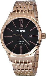 تي دبليو ستيل ساعة يد رجاليه بسوار ستانلس ستيل، TW1308