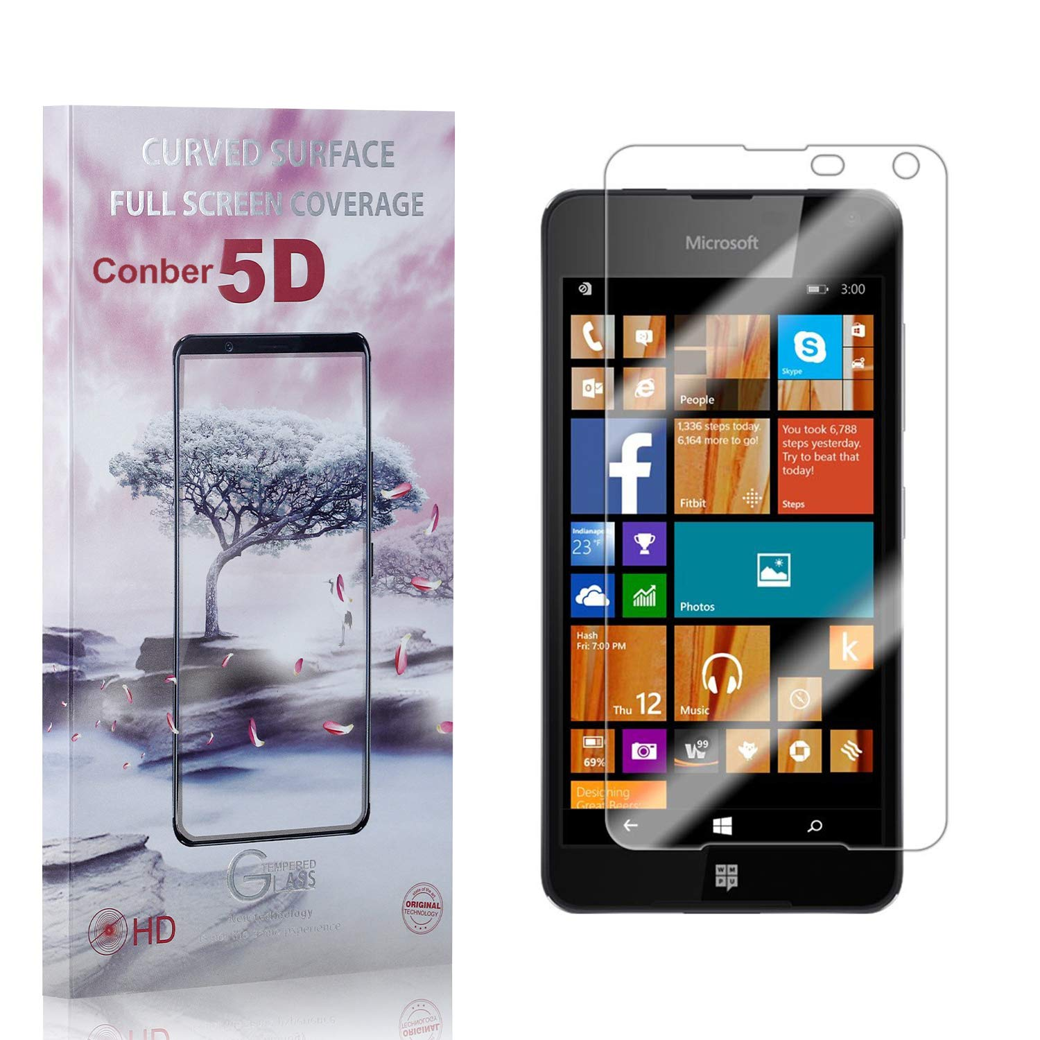 Conber 3 Pack Screen Protector Lumia Anti- New sales 650 Microsoft for Cheap mail order sales