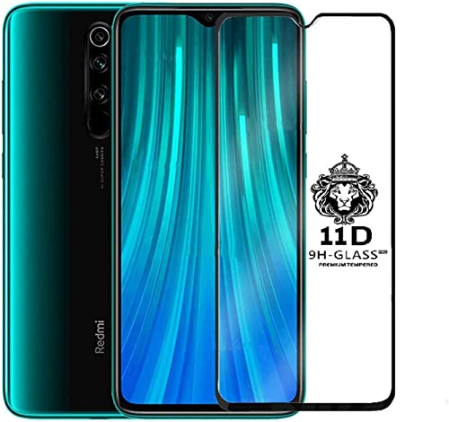 Nishtech Full Edge to Edge Full Glue 6D 11D Full Edge to Edge Screen Protection Tempered Glass for Redmi Note 8 pro 2019