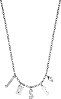 Just Cavalli Pendant Necklace for Women, Stainless Steel - JCNL00300100