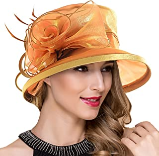 65ebc86208023 Lady Church Derby Dress Cloche Hat Fascinator Floral Tea Party Wedding  Bucket Hat S051