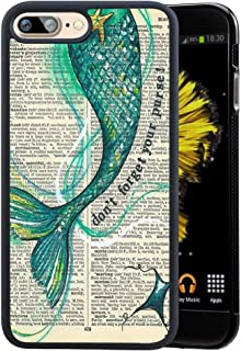 iPhone 7 Plus/iPhone 8 Plus Case with Mermaid Pattern,Amusing Whimsical Design Bumper Case,Black Thin TPU and PC Protection Soft Cover Anti-Scratch &Fingerprint Shock Proof Case for iPhone 7 Plus/iPh