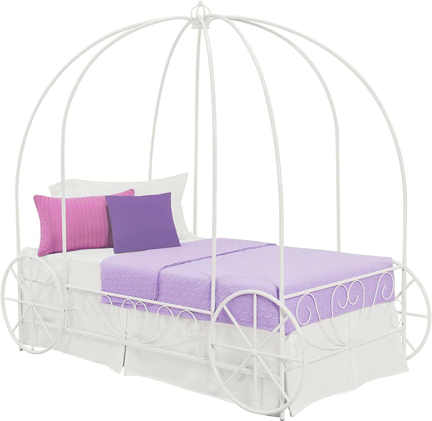 DHP Metal Carriage Large discharge sale Bed Fairy Tale Style Shabby-Chic Max 66% OFF Frame