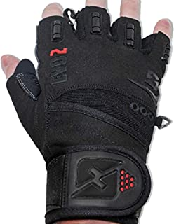 skott Evo 2 Weightlifting Gloves with Integrated Wrist Wrap Support-Double Stitching for Extra Durability-Get Ripped with ...
