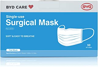 ماسک صورت سه لایه یکبار مصرف مارک BYD CARE،تک سایز،بسته 50تایی