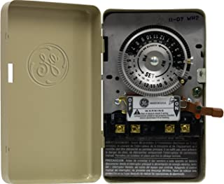 GE 15146 24-Hour Mechanical Time Switch, 240V, 5HP
