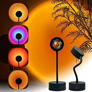 Sunset Projection Lamp LED Night Light, 360 Degree Rotation Sunset Projector Light Floor Lamp, USB Romantic Visual Modern ...