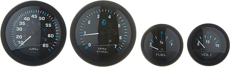 Sierra International Eclipse 4-Gauge Outboard Kit Includes Speedometer, Tachometer, Voltmeter & Fuel Gauges