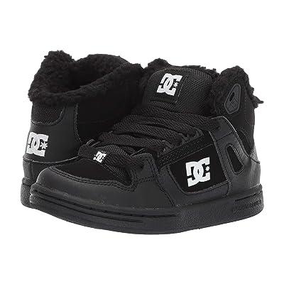 DC Kids Pure High-Top WNT (Little Kid/Big Kid) (Black/White) Boys Shoes