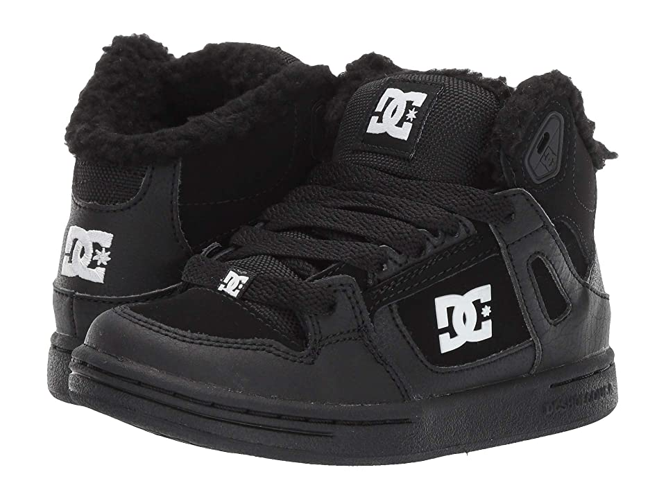 DC Kids Pure High-Top WNT (Little Kid/Big Kid) (Black/White) Boys Shoes
