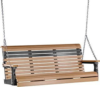 LuxCraft Rollback 5ft Recycled Plastic Porch Swing