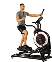 Sunny Health & Fitness Motorized Elliptical Trainer Elliptical Machine w/Tablet Holder, Programmable Monitor and Heart Rate Monitoring, 300 LB Max Weight and 20
