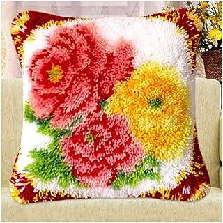 Crochet Loquet Kit Tapis Richesse Blossoms Bricolage Coussin Broderie Needlework Crocheting Coussin Couverture for la Mais...