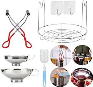Canning Essentials Set Includes 1PC Canning Rack,12