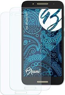 Bruni Skärmskydd är kompatibel med Alcatel A7 Film, kristallklart Skyddsfilm (2X)