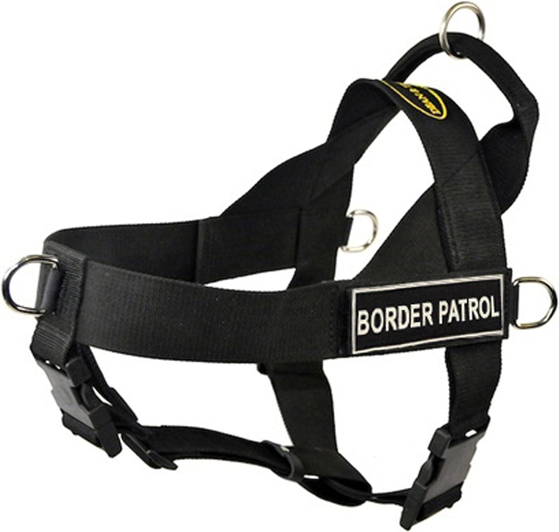 DT Universal No Pull Dog Harness, Border Patrol Dog, Black, XLarge  Fits Girth Size  91cm to 119cm