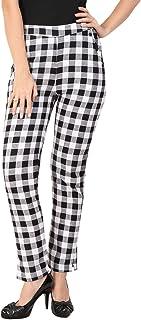 Makxziya Women's White Regular Fit Cotton Trouser