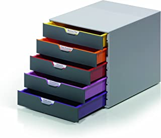 Durable 760527 Varicolor Drawer File, 5 Draw, Grey
