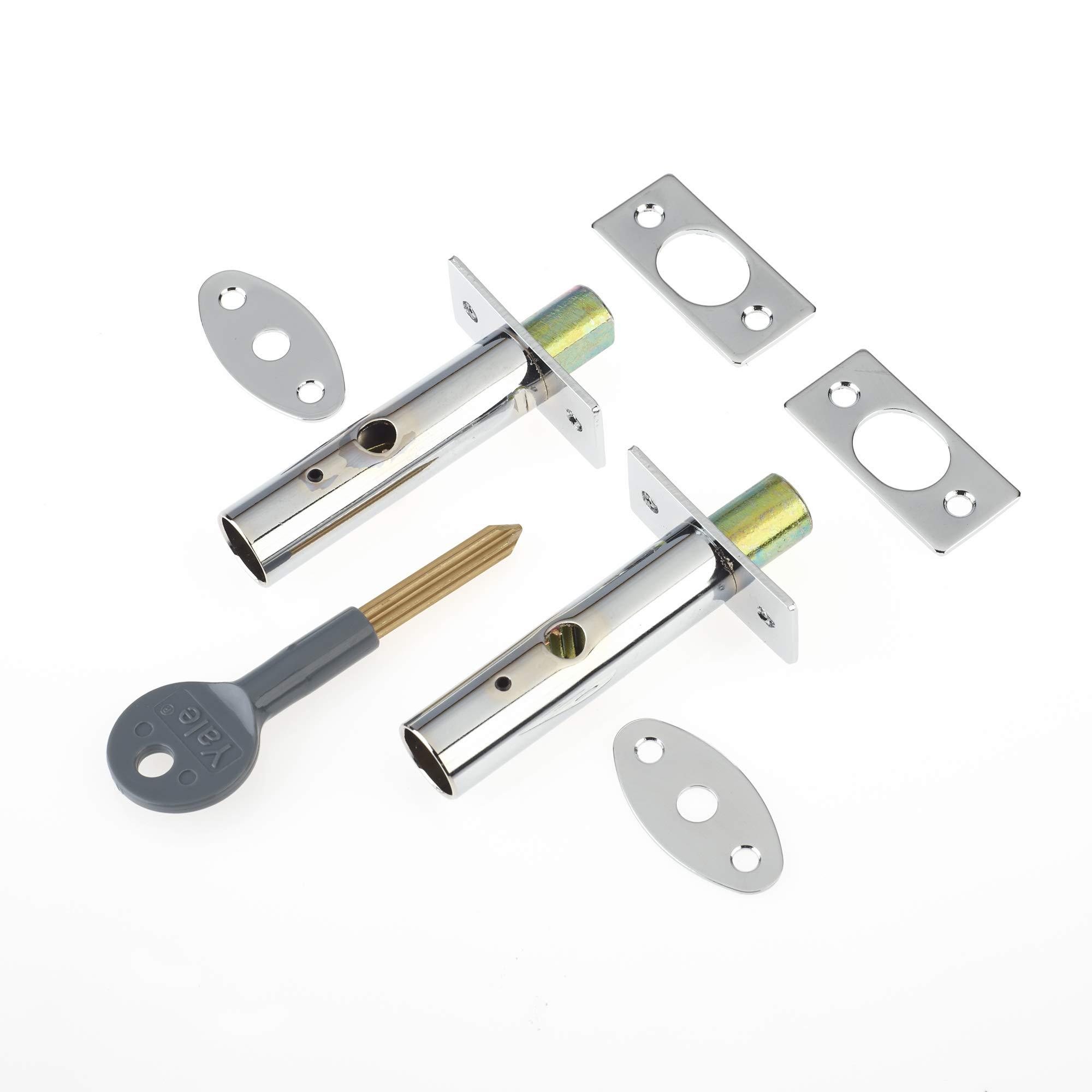 Yale Locks P2PM444CH Visi Pack - Perno de Seguridad Oculto para Puertas (2 Unidades), Color Cromado [Importado de Reino Unido]: Amazon.es: Bricolaje y herramientas
