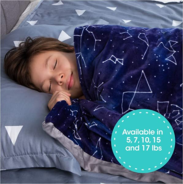 Florensi Weighted Blanket For Kids With Removable Bamboo Duvet Cover 7 Lbs 41 X 60 7 Pounds Weighted Comforter Twin Size Cooling Blanket For Kid Baby Toddler And Teenager Machine Washable